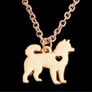 Jewelry - Shiba or Akita Gold Necklace